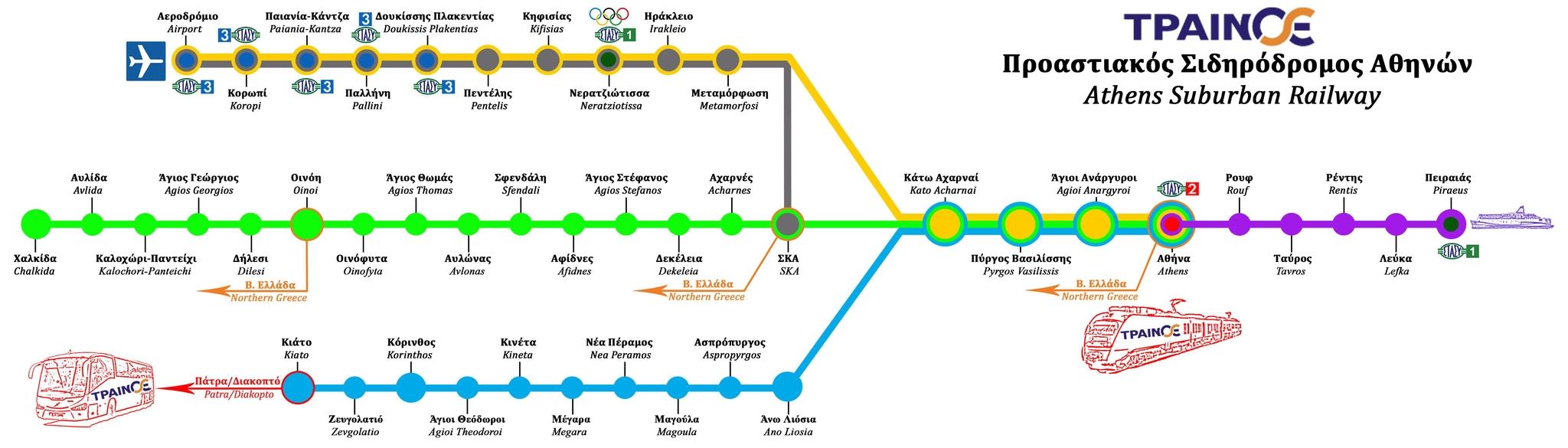 Proasiakos stations map